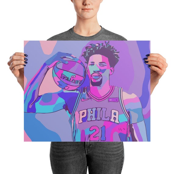 Embiid Trippy Photo paper poster