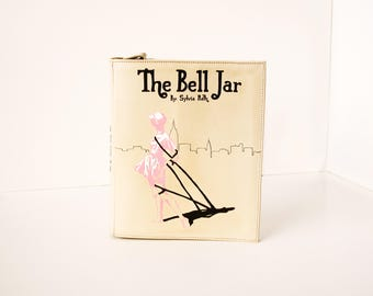 The Bell Jar Leather Book Bag Sylvia Plath Book Purse