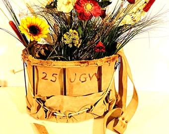 Apple Picking Bag Rustic Canvas Bag Peach Orchard Basket Herb Gathering Basket