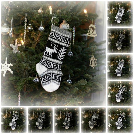 Small Christmas Stocking Snowman Christmas Sock Fair Isle