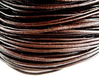 4 m 1.5 mm dark brown leather cord
