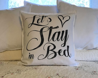 Farmhouse Style - Bed PIllow - Romantic Bedroom Pillow - Wedding Gift - Shower Gift - Vintage - PIllows