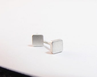 Sterling Silver Earrings Square Stud Earrings Square Silver Post Earrings Square Earrings Silver Stud Earrings Mothers Day Gifts For Her