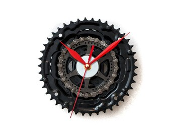 Large Bicycle  Clock - Modern Wall Clock - Bicycle Wall Clock - Bike Sprocket Clock - Unique Wall Clock - Industrial Clock - Bike Wall Clock