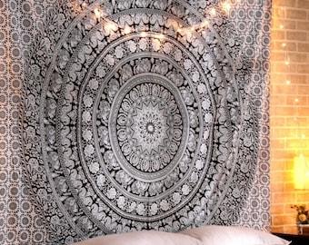 Dorm Decor Boho Hippie Indian Handmade Mandala Tapestry Queen Size Wall Hanging Multi Purpose