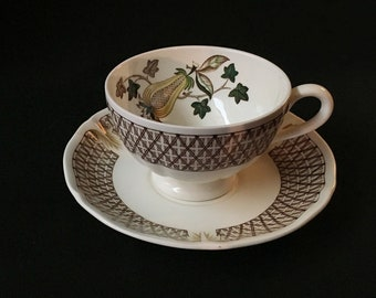 Wedgwood AVOCADO YELLOW Cup & Saucer Made in England