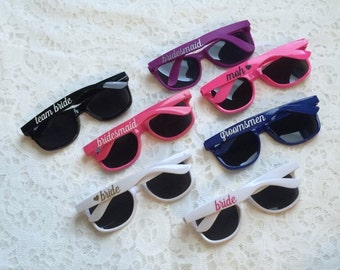 Custom Bridal Party Sunglasses - Party Sunglasses - Bachelorette Sunglasses - Wedding Sunglasses - Personalized Sunglasses - Custom Sunglass