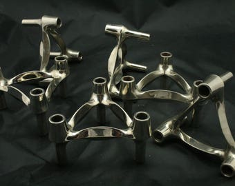 Six Vintage candle stick holders by BMF
