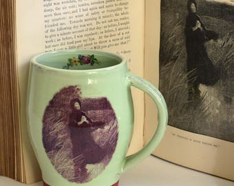 Jane Eyre quote, literary gifts, literary quote, Charlotte Bronte, mug pottery, book lovers, bookish, mother's day gift