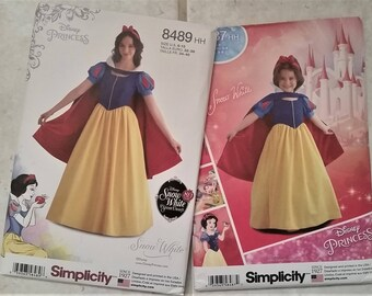 Mother and Daughter Snow White Sewing Patterns (Simplicity 8487 and 8489)