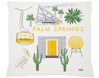 Palm Springs Tea Towel