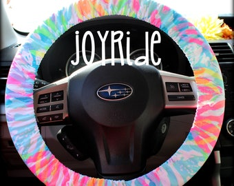 Steering Wheel Cover Lilly Pulitzer Sparkling Sand Fabric Fully lined with Grip Tight Designer Car Accessories Coral For Girls Woman