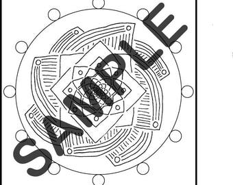 Mandala-esk Coloring Pages (5-Pack)