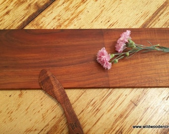 Blackwood Pate Board and Spreader, solid timber, serving platter