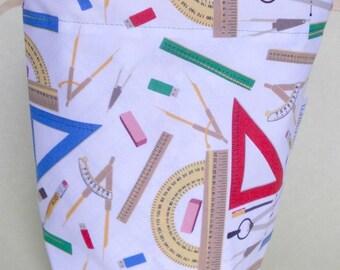 Math Geek Small Drawstring Project Bag