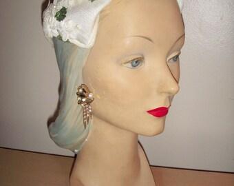 Striking 1950's Aurora Borealis Dangly Earrings