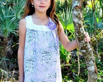 Girls maxi dress - girls dresses - girls boho dress - maxi dress  - purple maxi dress - Summer dress - crochet top - boho flower girl dress