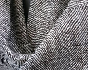 100% Alpaca Hand woven Shawl in black and cream design.