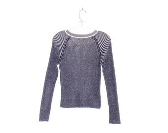 90s y2k Gap sweater RIBBED CYPER SWEATER shadow look wide rib knit sweater slim skinny fit pullover hackers club kid 90s clothing 90s grunge