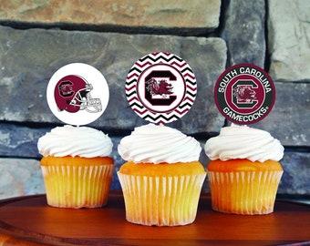 South Carolina Cupcake Toppers