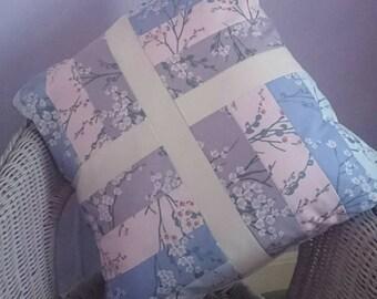 Blossom handmade patchwork cushion