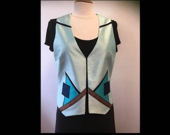 Woman silk - sleeveless bolero jacket