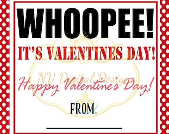 Valentine's Day Whoopee Cushion tag- Valentines day tag- Whoopee Its valentines day tag- DIGITAL INSTANT DOWNLOAD