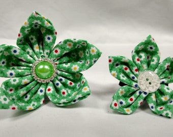 Green or Black Daisies - Bow Tie or Flower