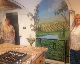 Beautiful Custom Handpainted Muralsi in Your Home or Business.
