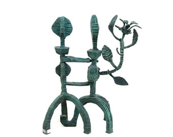 Bronze Sculpture Signed by Naftali Bezem Dancers Unique Art