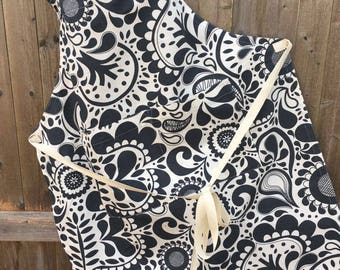 Handmade Cotton Twill Paisley Apron