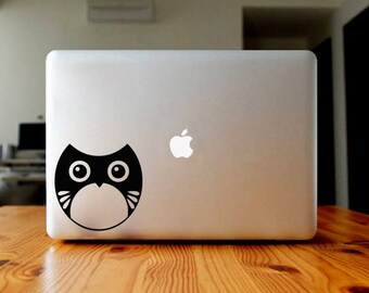 Owl sticker, decal, your choice of color