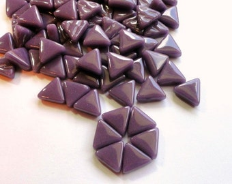 MINI Amethyst Purple Triangle Shaped Mosaic Tiles 10mm//Recycled Glass Tiles//Mosaic Supplies//Jewelry Supplies//Mosaics