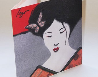 JAPAN4 greeting card