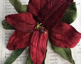 velvet tiger lily. velvet lily millinery lily. vintage lily flower. Miss Rose Sister Violet velvet lily.