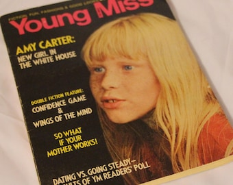 Young Miss Magazine, featuring Amy Carter, new girl in the White House, September 1977
