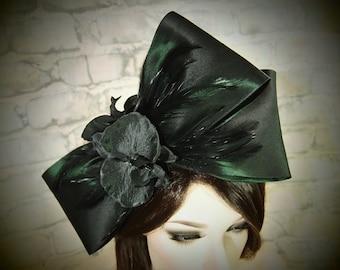 Deep Emerald Green Headpiece