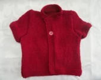 Jacket sleeves short right collar, a button size 6 months