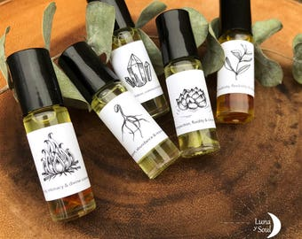 Elemental Intention Blends/ 5 elements/ Essential oil rollers/ Anointing oils