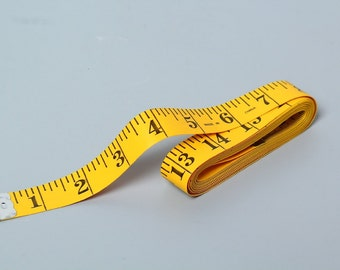 120 Inch, 300 cm Yellow Soft Tape Measure, Measuring Tape; Sewing, Seamstress, Tailor Cloth Flexible Ruler Tape