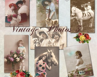 Vintage Photos 3 - Digital Scrapbooking Clipart Graphics Vintage Photos