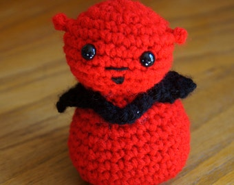 Devil, crocheted Halloween Amigurumi