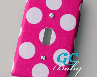 Polka Dot Light Switch and Outlet Covers - Pole, Rocker, Duplex, Toggle, Decorator