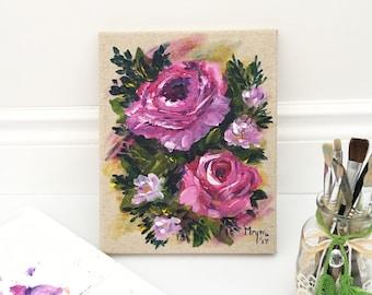 Messy roses - original painting