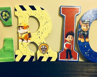 Paw Patrol Wooden Letters, Boy or Girl