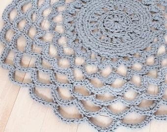 Crochet dress grey, handmade