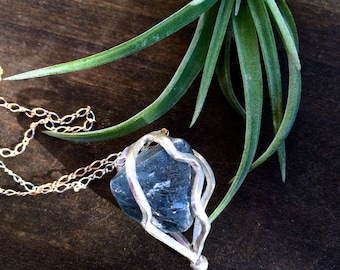 Fluorite Crystal Cage Necklace
