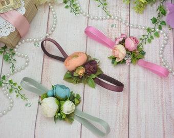 Baby girl headband- Toddler headband- Newborn headband- Flower headband- Floral baby headpiece- Floral headband- Flower girl hair- Baby hair