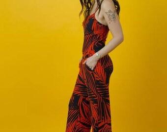Amit long black/orange jumpsuit