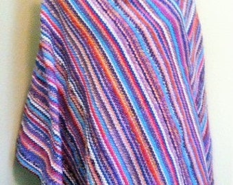 Periwinkle Parade Handwoven Shawl